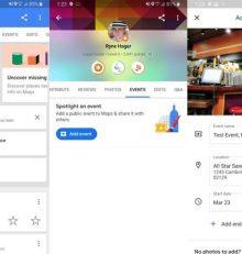 Google Maps permet de créer des événements publics