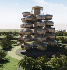Près de Rennes, un hôtel 4 étoiles au design unique et futuriste ouvrira en 2020